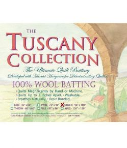 tuscwoolqueen Wollvlies - Queen Tuscany